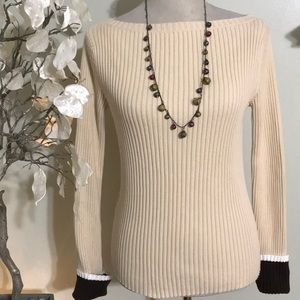 ANN TAYLOR STRETCH SWEATER